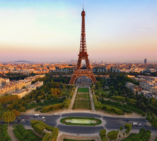 Tour eiffel vue aerienne architecture et paysages urbains - Photo de tour eiffel ...