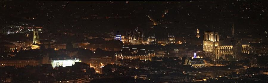 Photo Aerienne de Paris by Night Panorama%20Notre%20Dame-BorderMaker