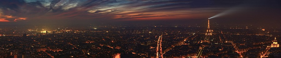 Photo Aerienne de Paris by Night Panorama%20Tour%20Eiffel%20Trocadero-BorderMaker